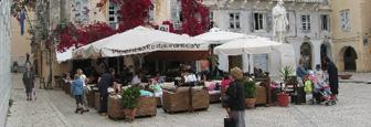 Restaurant in Kerkyra op het Griekse eiland Corfu