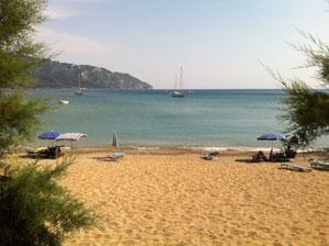 Mooi zandstrand op Corfu