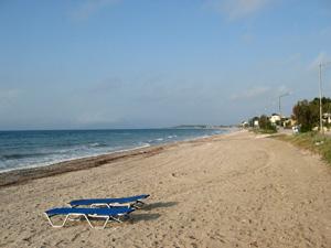 Strand van Acharavi op Corfu